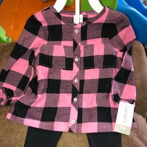 NWT plaid outfit